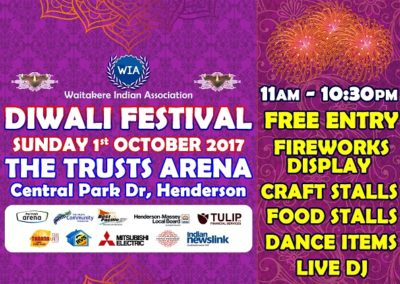 Waitakere Indian Association Diwali 2017
