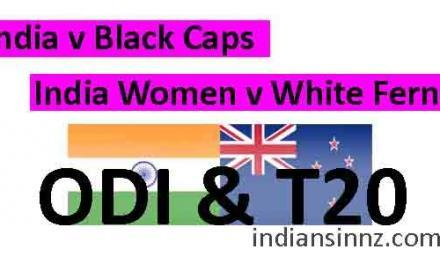 India vs New Zealand ODI and T20