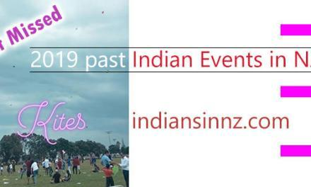 Past Indian events in New Zealand of the year 2019