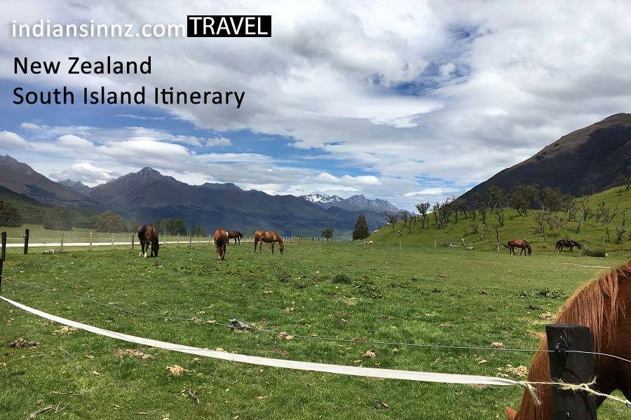 New Zealand south Island itinerary indians-in-nz