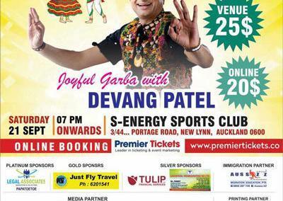 Joyful garba with Devang Patel 2019 Auckland New Zealand indiansinnz.com