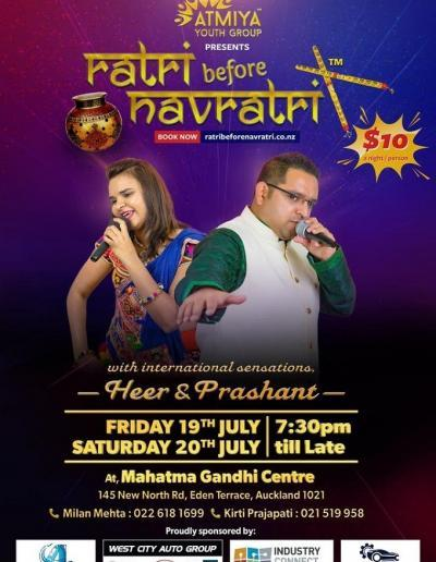 Ratri before Navratri Auckland 19th & 20th July