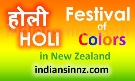 Holi Festival of Colors in New Zealand