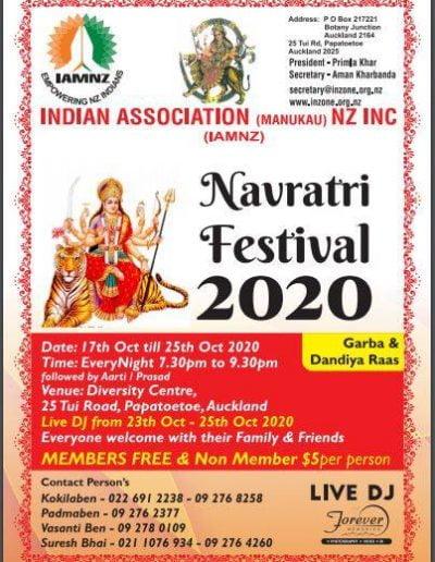 Indian Association Manukau Navratri Festival 2020