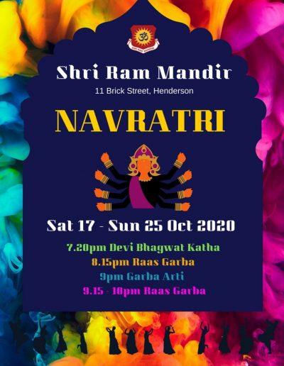 Shri Ram Mandir Henderson Navratri 2020